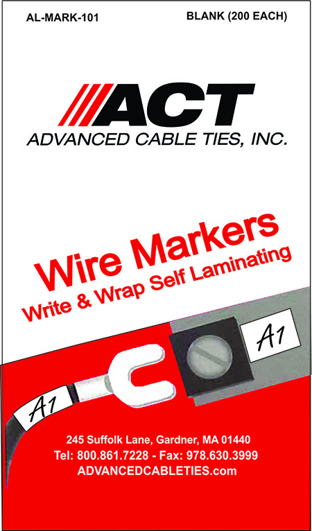 Wire Marker Labels, Write-Wrap Booklet – Blank Labels