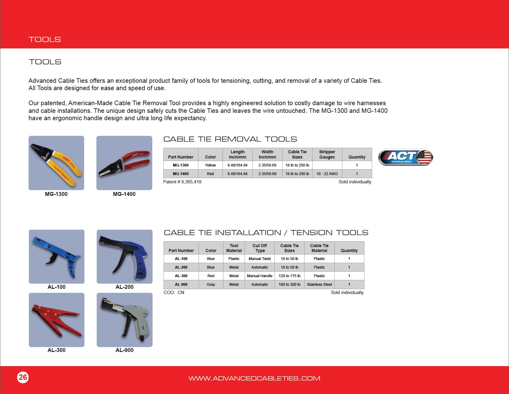 6d38d7305a89 Color Cable Ties Nylon 12 Solar & Cold Weather Removal/Installation Tools