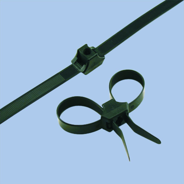 Dual Loop Impact Resistant Cable Ties, 150 lb, 13 inch, Heat Stabilized UV Black