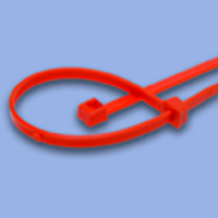 Tote Box Cable Ties, 40 LB, 5 Inch, Orange